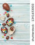 easter greeting card with... | Shutterstock . vector #1341653003