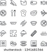 thin line icon set   spoon and... | Shutterstock .eps vector #1341681566