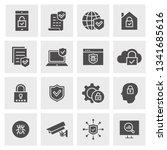security icon set. black vector ... | Shutterstock .eps vector #1341685616