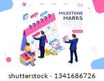 fill calendar mark  important... | Shutterstock .eps vector #1341686726