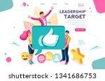 hand show gesture  best... | Shutterstock .eps vector #1341686753