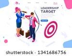 running people  target forward. ... | Shutterstock .eps vector #1341686756