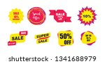 sale banner tag set  sale label ... | Shutterstock .eps vector #1341688979