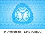 caduceus medical icon inside...   Shutterstock .eps vector #1341705800