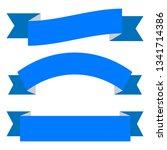 set of blue ribbon banner icon... | Shutterstock .eps vector #1341714386