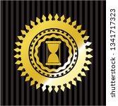 hourglass icon inside golden...   Shutterstock .eps vector #1341717323