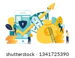 vector illustration of virtual... | Shutterstock .eps vector #1341725390
