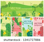 vector abstract floral herbal... | Shutterstock .eps vector #1341727886