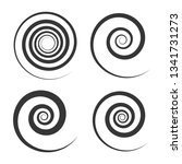 spiral and swirl motion... | Shutterstock . vector #1341731273