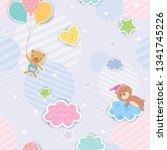 illustration vector of cute... | Shutterstock .eps vector #1341745226