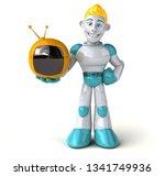 robot   3d illustration | Shutterstock . vector #1341749936