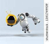 big robot   3d illustration | Shutterstock . vector #1341749939