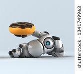 big robot   3d illustration | Shutterstock . vector #1341749963