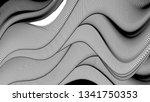 vector 3d striped waves....   Shutterstock .eps vector #1341750353