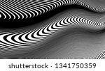vector 3d striped waves....   Shutterstock .eps vector #1341750359