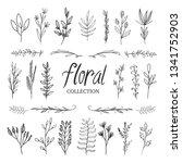 feminine floral hand drawn...   Shutterstock .eps vector #1341752903