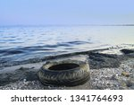 emissions to the sea oil... | Shutterstock . vector #1341764693