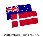 national fabric flags of... | Shutterstock . vector #1341768779