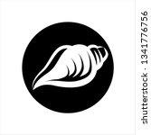 conch a marine mollusc vector... | Shutterstock .eps vector #1341776756