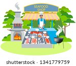 seafood shop  food. in... | Shutterstock . vector #1341779759