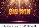big win banner illuminated by...   Shutterstock .eps vector #1341780683