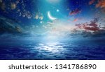 ramadan kareem background with... | Shutterstock . vector #1341786890