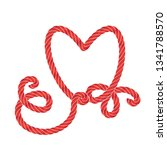 twisted vector rope heart icon...   Shutterstock .eps vector #1341788570