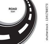 road  way or highway...   Shutterstock .eps vector #1341788573