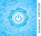 power icon inside sky blue...   Shutterstock .eps vector #1341791189