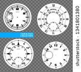 clock face blank set isolated... | Shutterstock .eps vector #1341801380