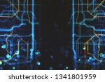 abstract blurry circuit on... | Shutterstock . vector #1341801959