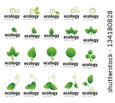 ecology icon   set   isolated... | Shutterstock .eps vector #134180828