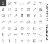 kitchen utensils line icons set.... | Shutterstock .eps vector #1341816599