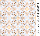 vector seamless pattern with... | Shutterstock .eps vector #1341818729