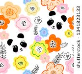 seamless pattern with creative... | Shutterstock . vector #1341823133