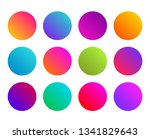 rounded gradient sphere button. ... | Shutterstock .eps vector #1341829643