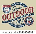 canada outdoor wild north... | Shutterstock .eps vector #1341830939