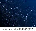 gometric plexus structure... | Shutterstock .eps vector #1341832193