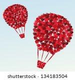 air balloon of hearts | Shutterstock .eps vector #134183504