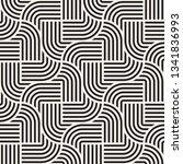 vector seamless interlacing... | Shutterstock .eps vector #1341836993