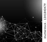 black neural texture abstract... | Shutterstock .eps vector #1341840479