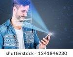 portrait of smiling young man... | Shutterstock . vector #1341846230