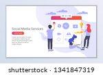 website template of social... | Shutterstock .eps vector #1341847319