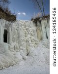minnehaha falls frozen ... | Shutterstock . vector #134185436