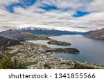 panoramic view  the remarkables ... | Shutterstock . vector #1341855566