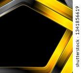 orange and black glossy stripes ... | Shutterstock .eps vector #1341856619