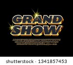 vector luxury grand show poster ... | Shutterstock .eps vector #1341857453
