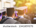 rear view of graduates join the ... | Shutterstock . vector #1341859370