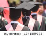 rear view of graduates join the ...   Shutterstock . vector #1341859373