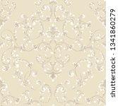 vector damask seamless pattern... | Shutterstock .eps vector #1341860279